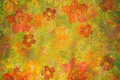 Abstract floral grunge background Stock Photos