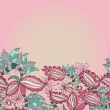 Abstract floral hand-drawn background of flower Royalty Free Stock Photos