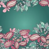 Abstract floral hand-drawn background of flower Stock Photo