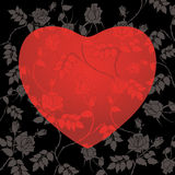 Abstract floral heart. With place for your text Stock Photography