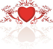 Abstract floral heart. With place for your text Royalty Free Stock Images
