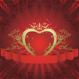 Abstract floral heart. With place for your text Royalty Free Stock Image