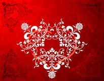Abstract floral heart. Valentines abstract background with hearts, vector illustration Royalty Free Stock Photography