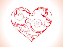 Abstract floral heart Stock Images