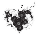 Abstract floral heart Stock Photos