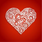 Abstract Floral Heart Background Stock Photos