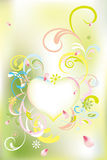 Abstract floral heart card Stock Photography