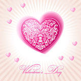 Abstract floral heart happy valentine day pink Royalty Free Stock Photos