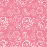 Abstract floral heart pattern Stock Image