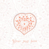 Abstract floral heart, valentine card with heart Stock Image