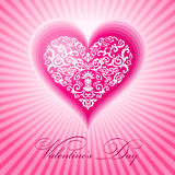 Abstract floral heart valentine day. Illustration Royalty Free Stock Photo