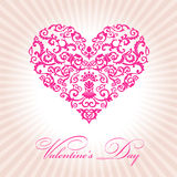 Abstract floral heart valentine day pink. Illustration Royalty Free Stock Images