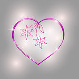 Abstract floral heart for valentine's day. Royalty Free Stock Images