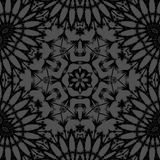 Abstract floral hexagon pattern silver gray black Stock Photo