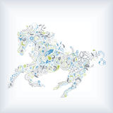 Abstract Floral Horse Stock Image