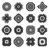 Abstract floral icons. Design elements set. Vector art Royalty Free Illustration