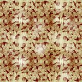 Floral abstract background in shades of brown. Abstract floral illustrated background in brown stock illustration
