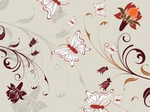Abstract floral illustration Stock Images