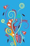 Abstract floral illustration Royalty Free Stock Photo