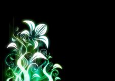 Abstract floral illustration Royalty Free Stock Image