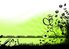 abstract floral illustration Стоковое Изображение RF
