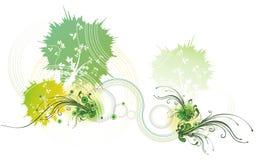 Abstract floral illustration stock illustration