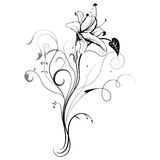 Abstract floral illustration for design. Stock Photo