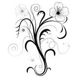 Abstract floral illustration for design. Stock Photos