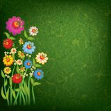 Abstract floral illustration on grunge background Royalty Free Stock Images