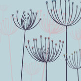 Abstract floral imprint ornament Stock Images