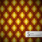Abstract floral lattice Gold Brown sparkling diamond vintage  Stock Photography
