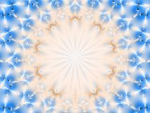 Abstract circular fractal pattern with copy space Stock Photography