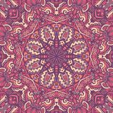 Abstract floral mandala seamless pattern. Abstract festive mandala vector ethnic boho tribal pattern. seamless background for fabric Royalty Free Stock Images