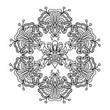 Abstract floral mandala zentangle Royalty Free Stock Photo