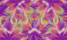 Abstract floral mauve ornament. Stock Photography