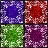Abstract floral motif collage in rich colors  Stock Photos