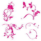 Abstract floral ornament. Collection of abstract floral ornament Vector Illustration