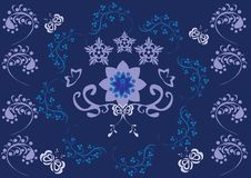 Abstract floral ornament Royalty Free Stock Images