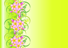 Abstract floral ornament with background Stock Images