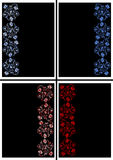 Abstract floral ornament in blue and red colors Royalty Free Stock Photography