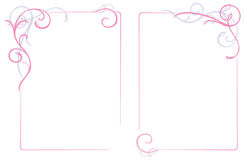 Abstract floral ornament frame royalty free illustration