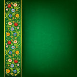 Abstract floral ornament on green background Royalty Free Stock Images