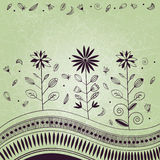 Abstract floral ornament with grunge effect Royalty Free Stock Photo