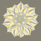 Abstract floral ornament. Hand drawn doodle. Vector illustration Stock Photo