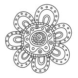 Abstract floral ornament. Hand drawn doodle. Vector illustration Stock Photos