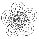 Abstract floral ornament. Hand drawn doodle. Vector illustration Royalty Free Stock Photos