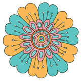 Abstract floral ornament. Hand drawn doodle. Vector illustration Royalty Free Stock Images