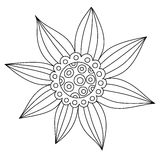 Abstract floral ornament. Hand drawn doodle. Vector illustration Stock Image