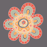 Abstract floral ornament. Hand drawn doodle. Vector illustration Stock Photography
