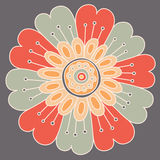 Abstract floral ornament. Hand drawn doodle. Vector illustration Royalty Free Stock Image